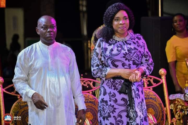 Liz Benson and husband, Bishop Great Emeya