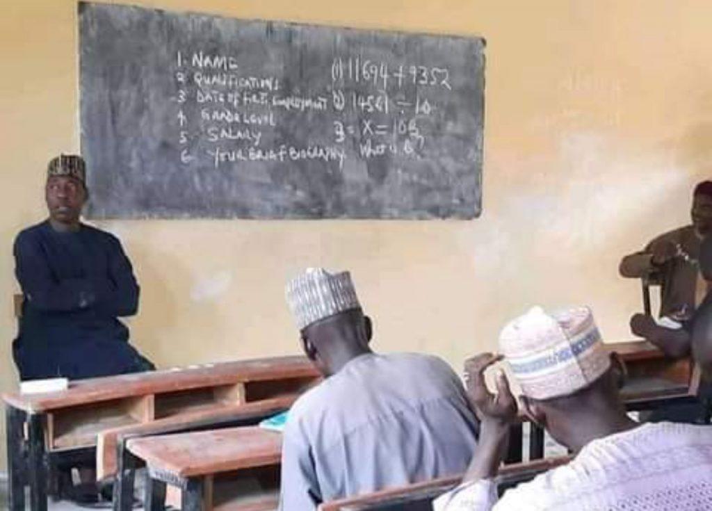 Zulum invigilating teachers