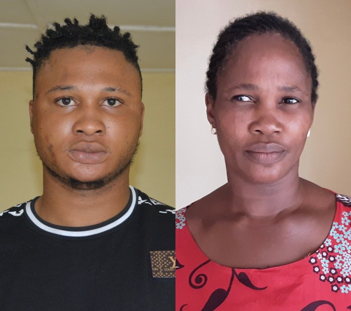 Son and mother arrested for fraud