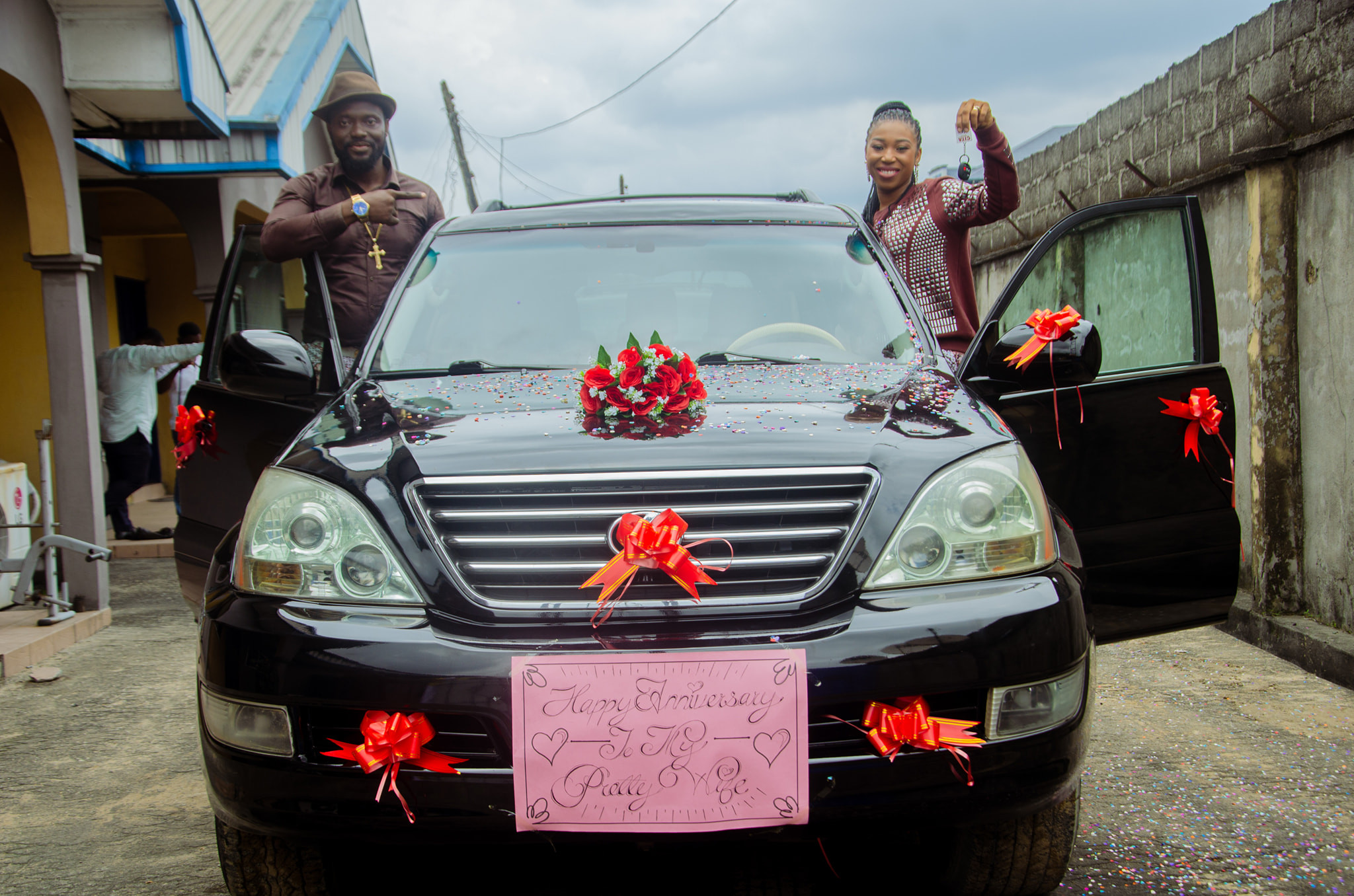 Pastor gifts wife a car