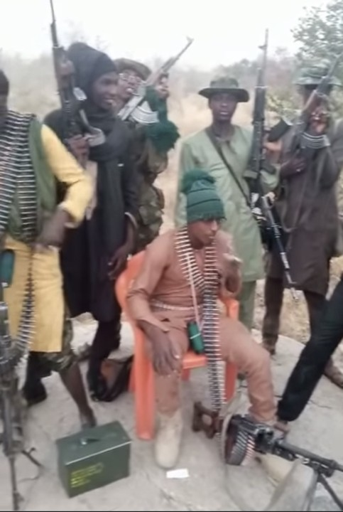 Bandits show off deadly weapons in Zamfara forest