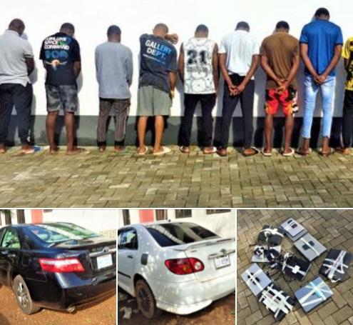 Yahoo boys arrested in Enugu