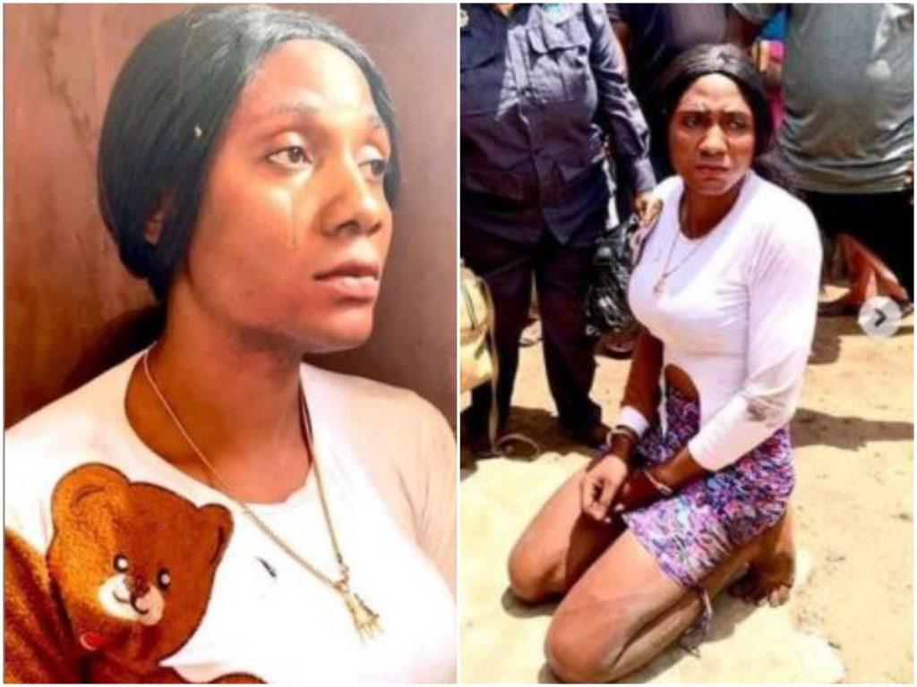 The crossdresser arrested