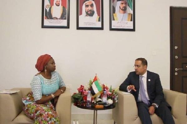 Abike and UAE ambassador