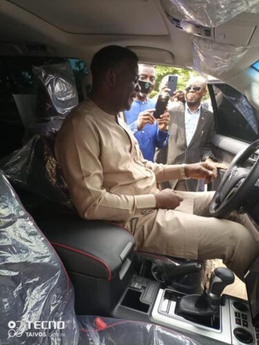 Pastor Chris gets brand new car from church members