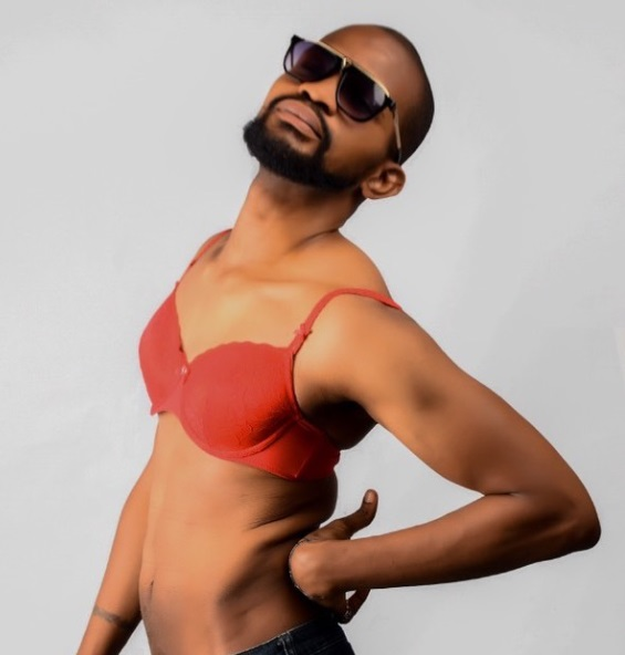 Uche poses in bra after coming out as gay