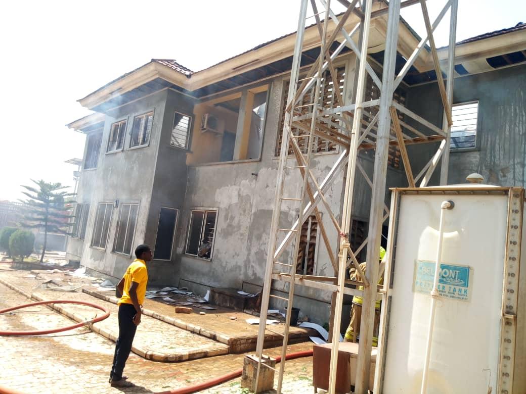 Fearon's duplex destroyed by fire in Kaduna