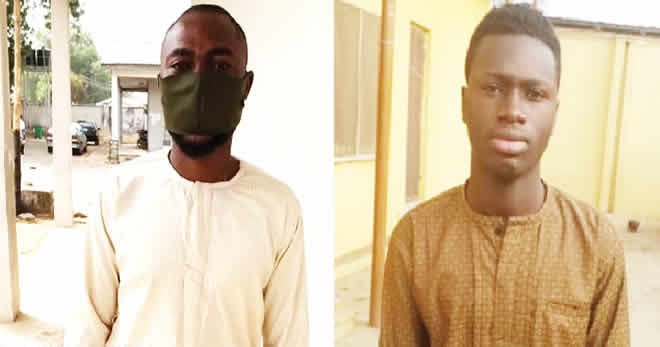 The suspects after they were arrested by the EFCC
