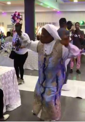 Reverend sister dancing to Timaya's song