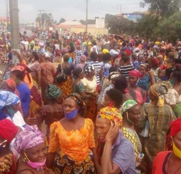 Edo women protest against Fulanis in the state