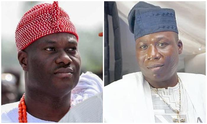 Ooni of Ife, Oba Adeyeye Ogunwusi and Sunday Igbohoa