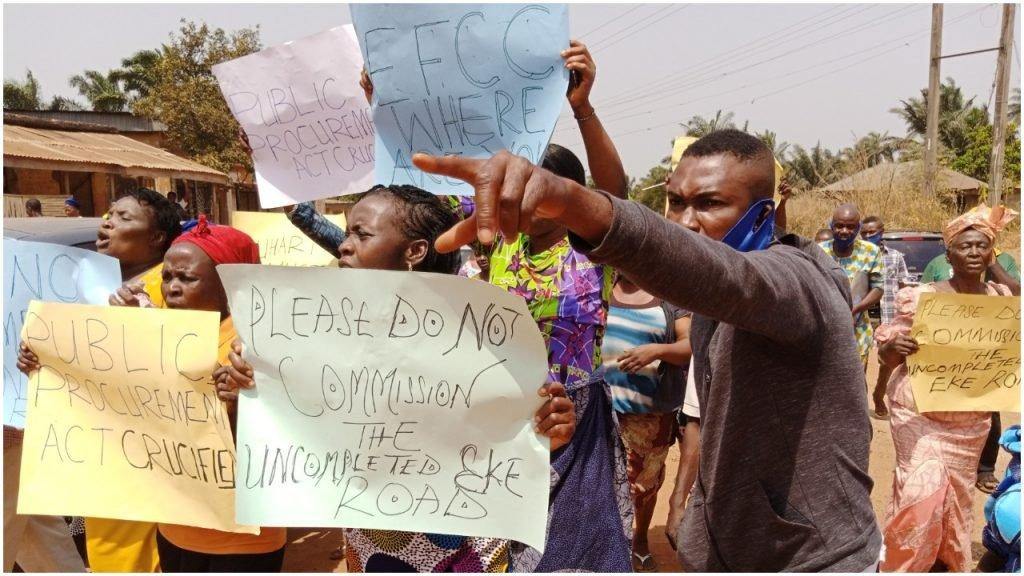 Protesters take over Enugu state