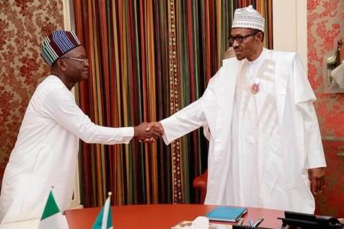 Governor Ortom and President Muhammadu Buhari