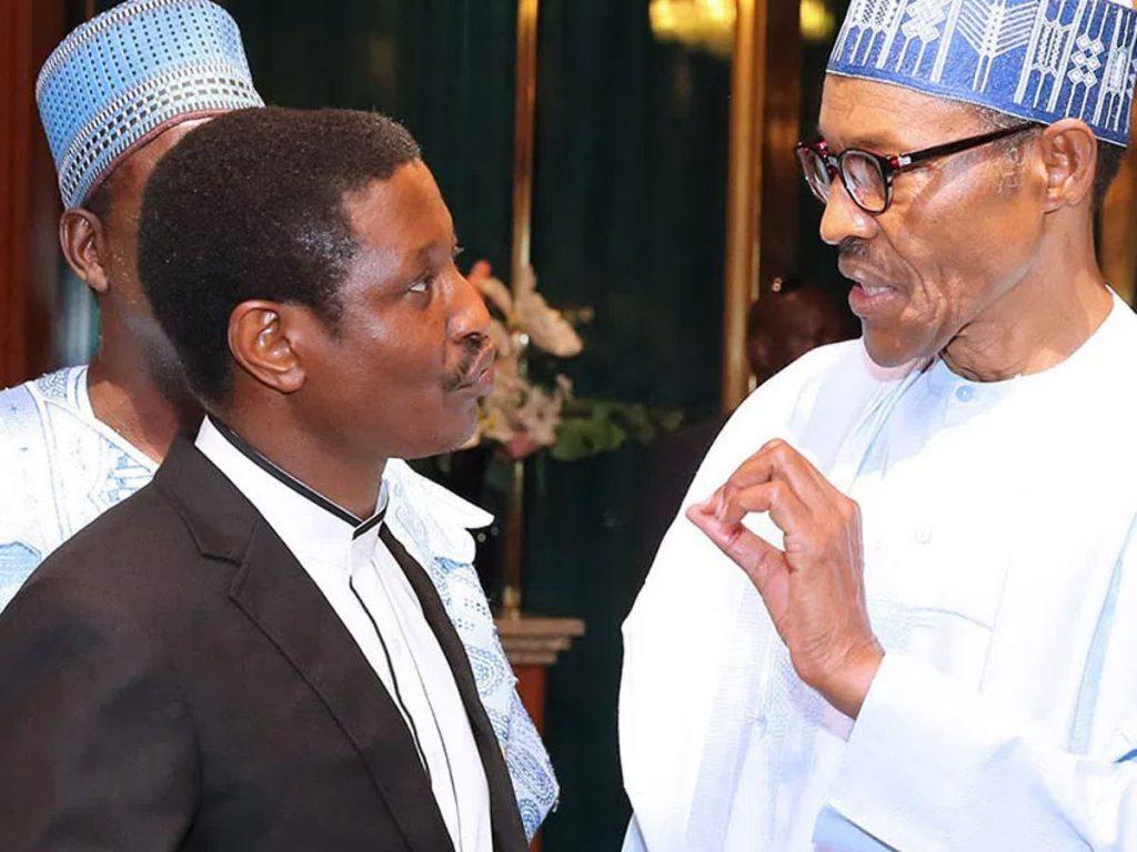 Yakubu Pam and President Muhammadu Buhari