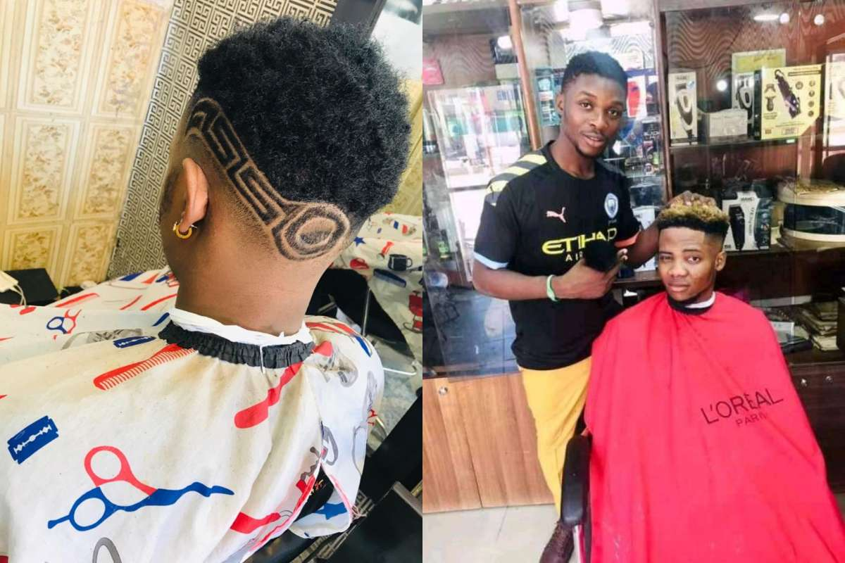 The barber arrested by the police
