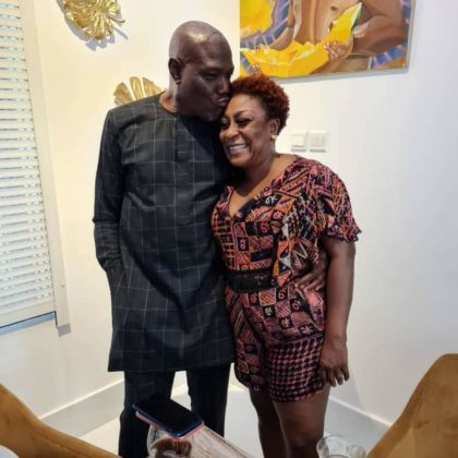 Burna Boy's mother celebrates her husband