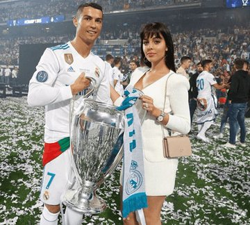 Ronaldo and his girlfriend, Rodriguez
