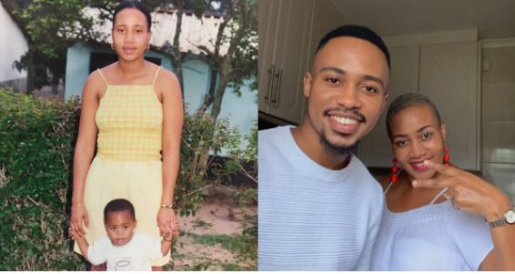 The son and mother throwback, recent photos
