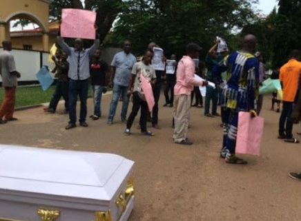 Corpse of person killed by herdsmen in Edo
