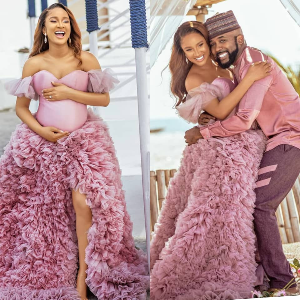 Nigerians, Celebrities Congratulate Banky W and Adesua Etomi On the Birth of Their First Child