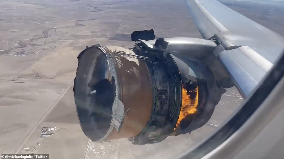 Boeing plane catches fire