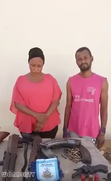 The lady and her lover, Ikechukwu John caught during robbery operation