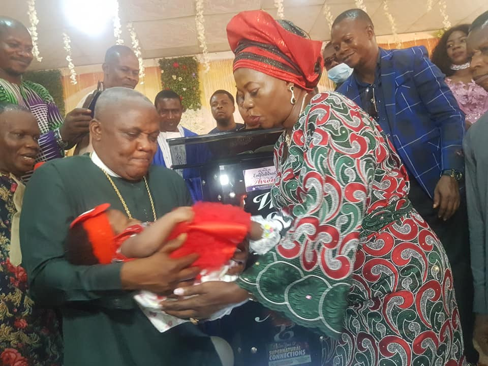 Nigerian bishop and wife welcome baby after 25 years of marriage