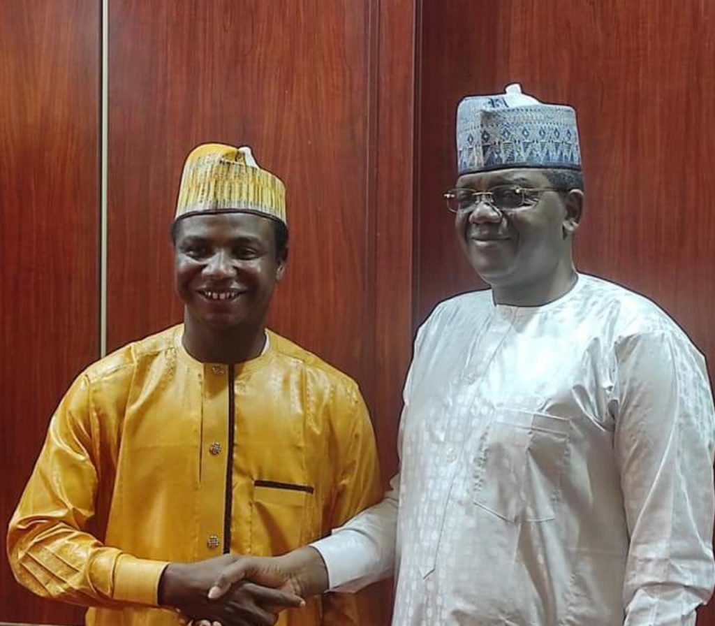 Katare posing with Governor Matawalle