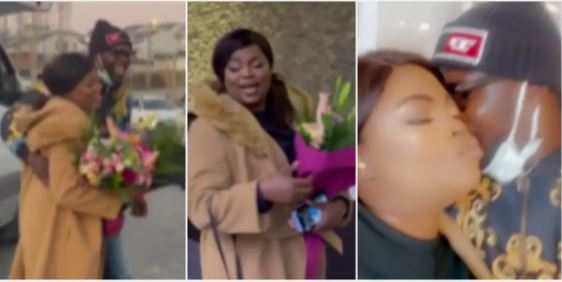 Funke surprised with flowers by her husband