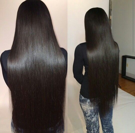 Bone straight hair