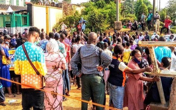 Crowd at NIMC office in Ikeja