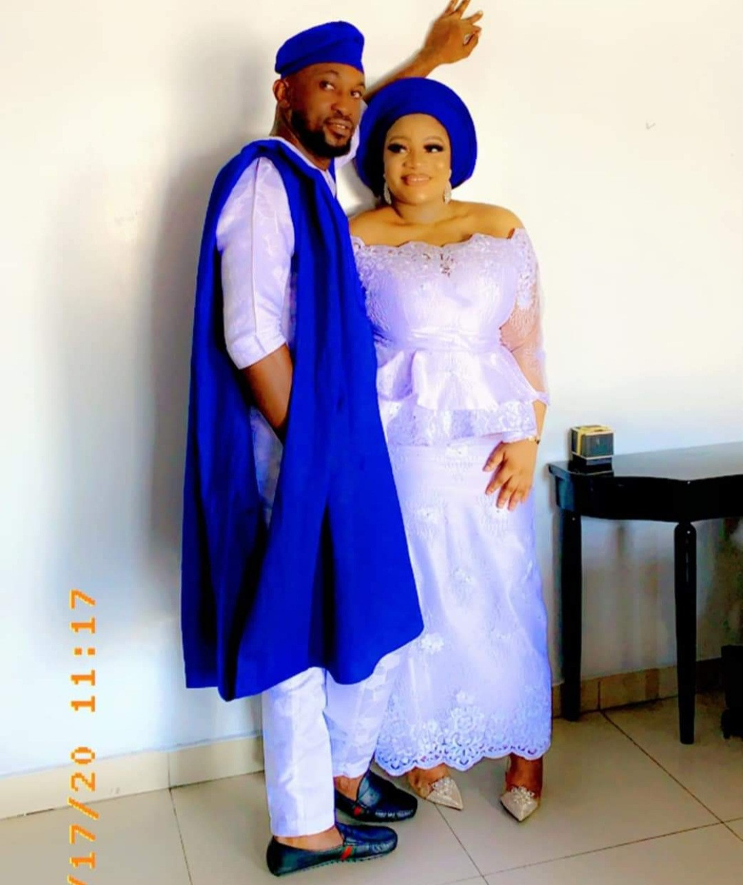 Chukwutem Victor Inalu and his wife, Onyinye Onome