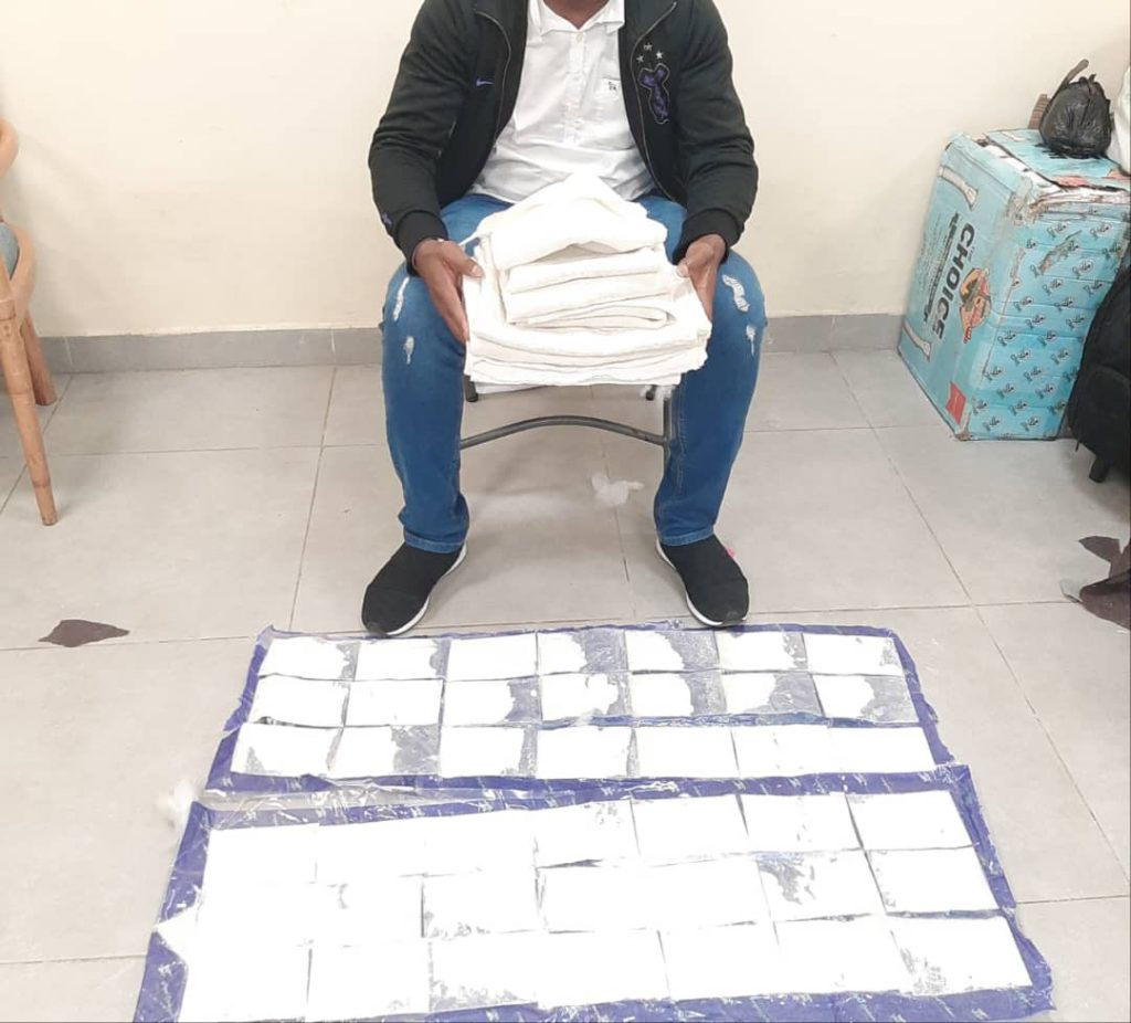The suspects were arrested with cocaine