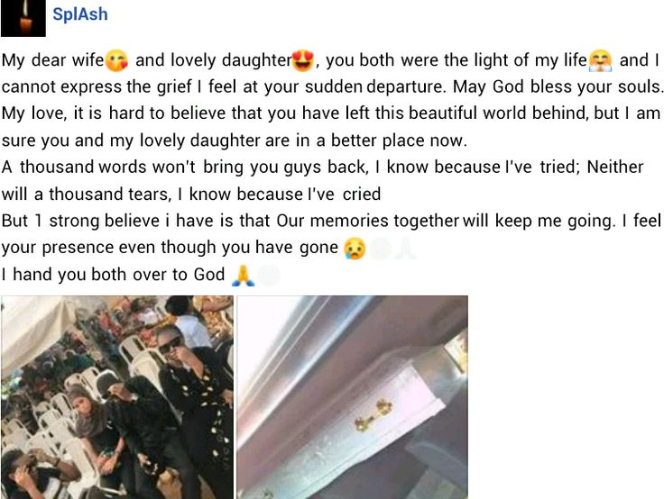 Beraved man pens emotional message to late wife and daughter
