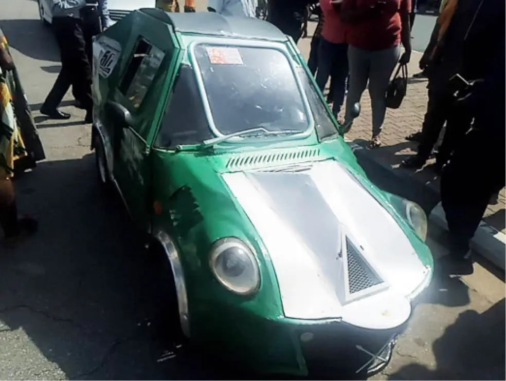 The made in Nigeria car by a young inventor