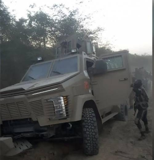Nigerian army armoured personnel carrier captured by Boko Haram