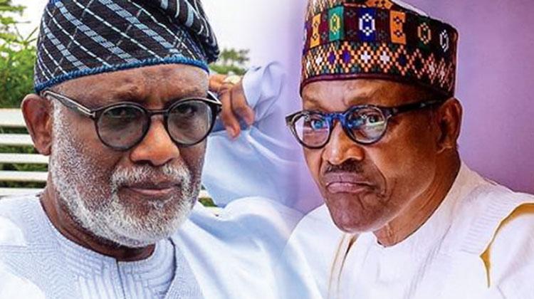 Akeredolu and Muhammadu Buhari