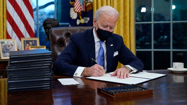 Joe Biden at the Oval Office