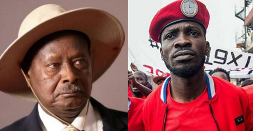 Museveni and Bobi Wine