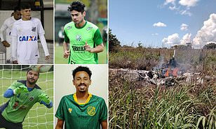 The footballers died in the fatal plane crash