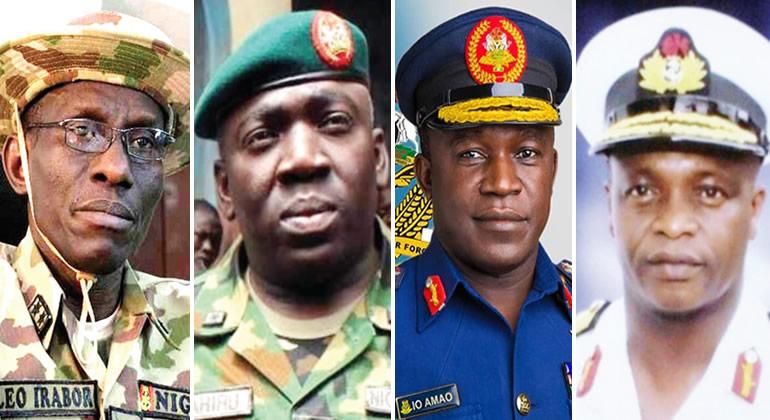 Buhari's new service chiefs