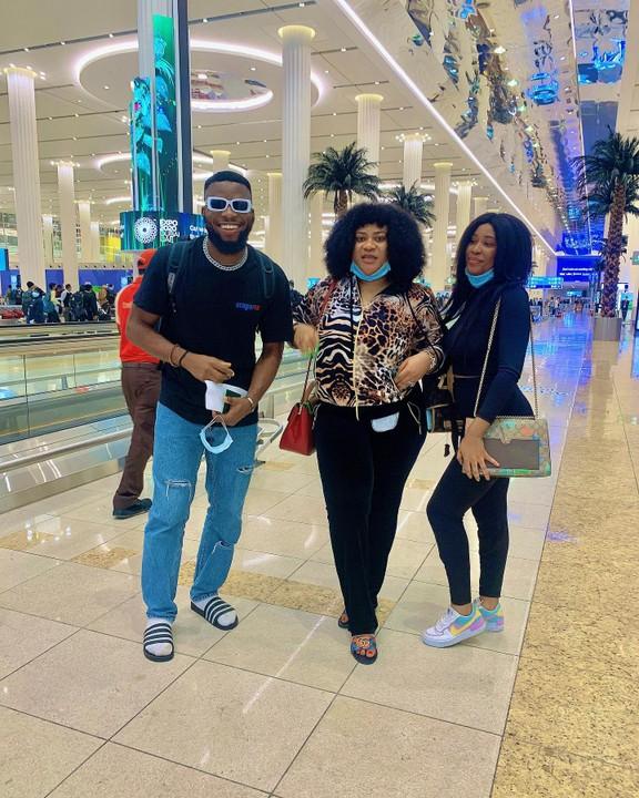 The trio in Dubai