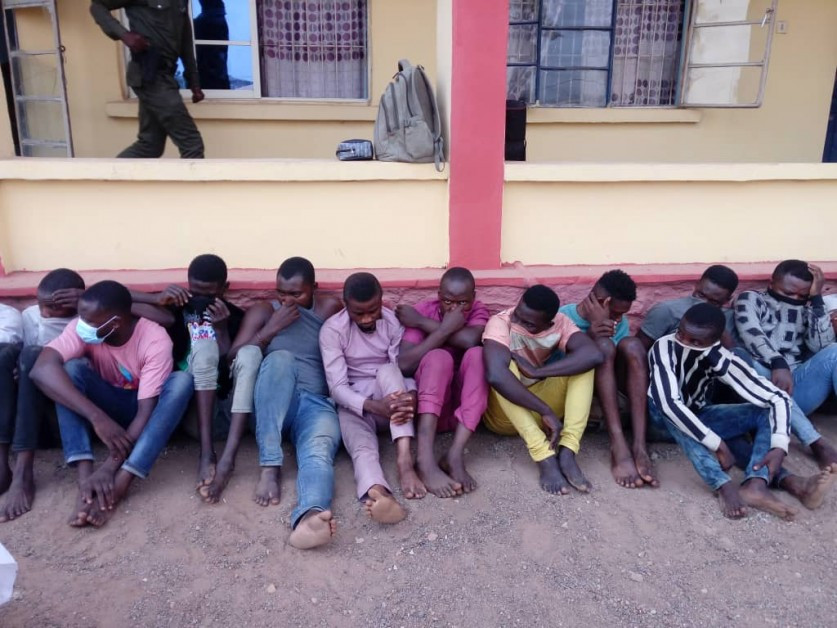 The cultists after being arrested