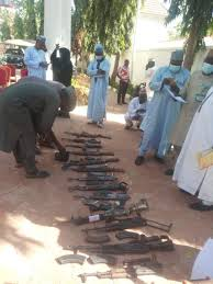 Weapons surrendered by bandits