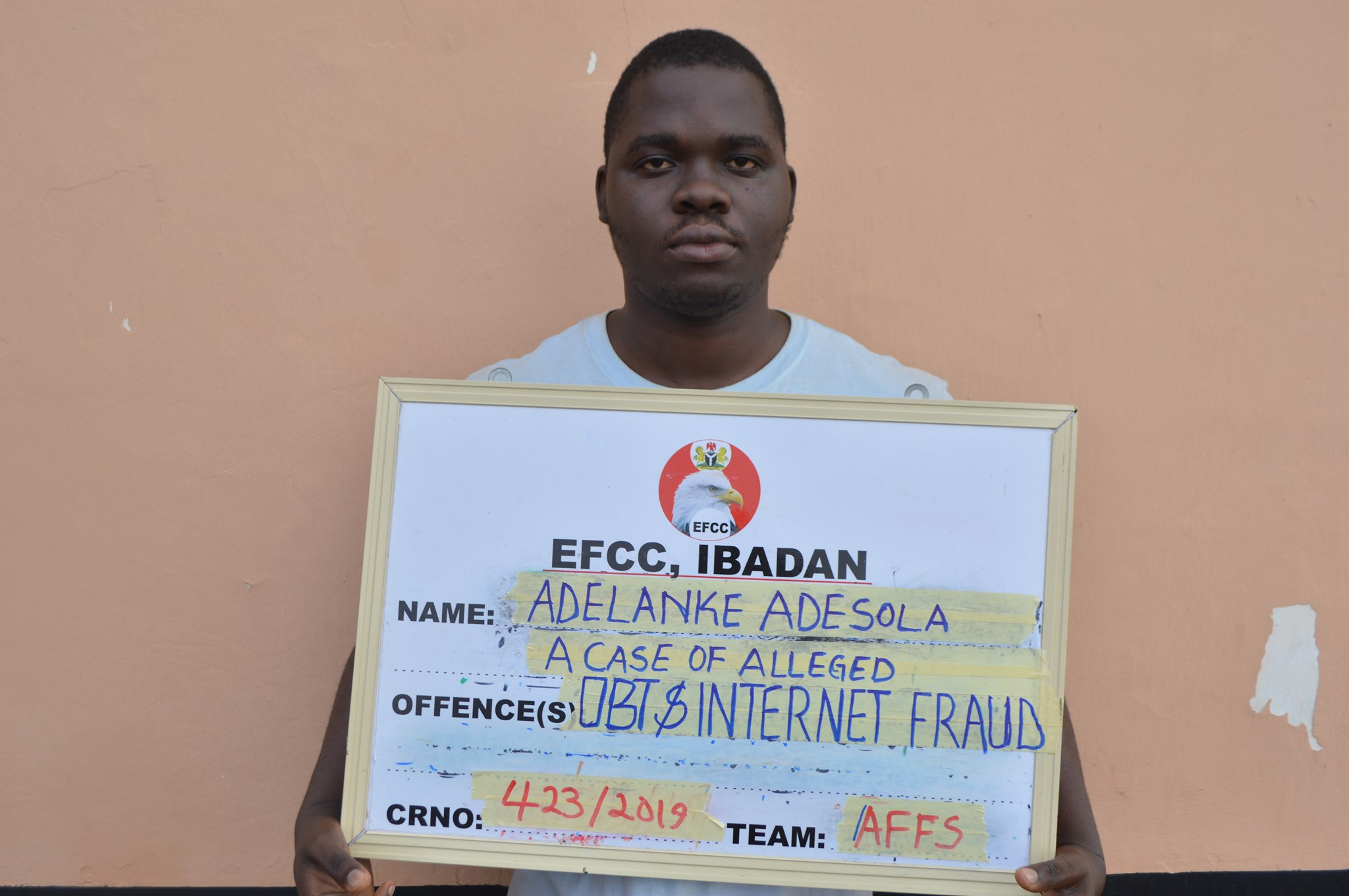 Photo Of Sales Rep Who Was Nabbed For Internet Fraud In Ekiti