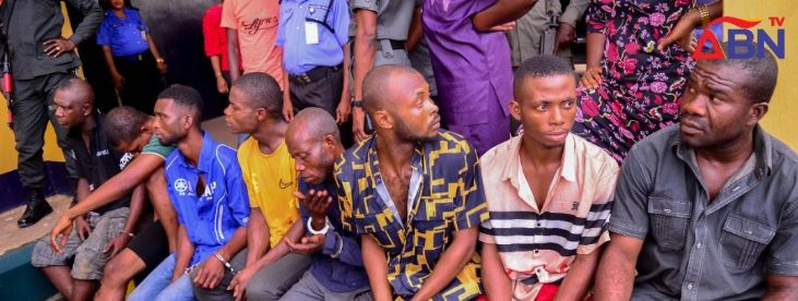 The kidnappers arrested in Abia state