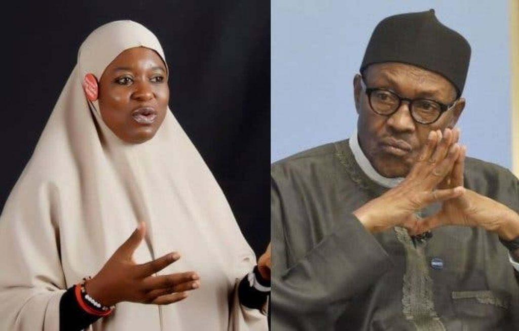 Aisha Yesufu and Muhammadu Buhari