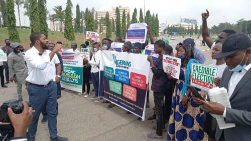Protest in Abuja over Electoral Amendment Bill