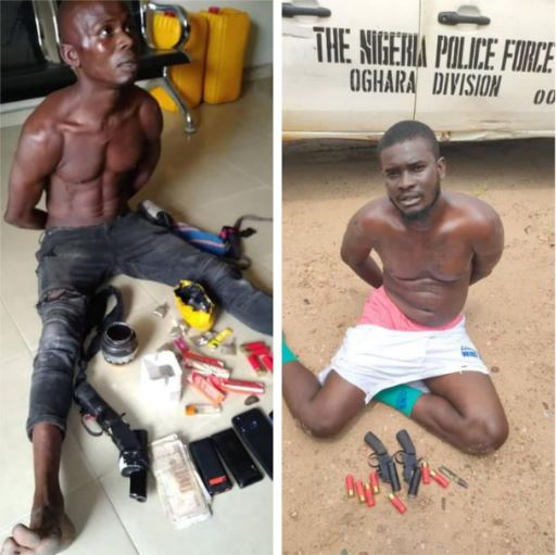 The arrested criminals