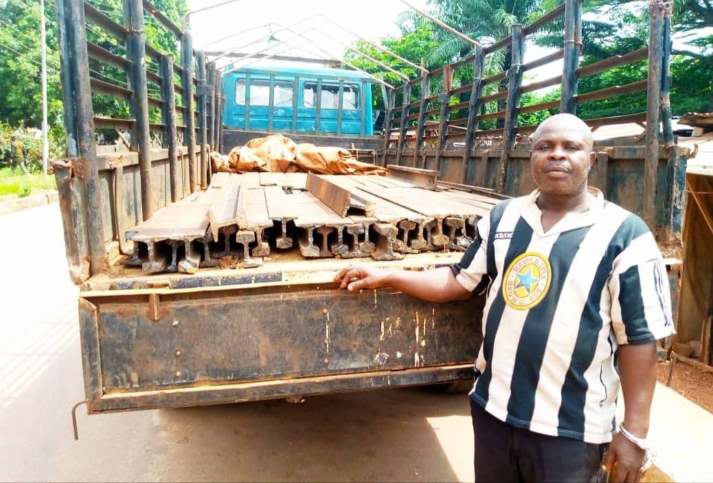 Railway track vandals